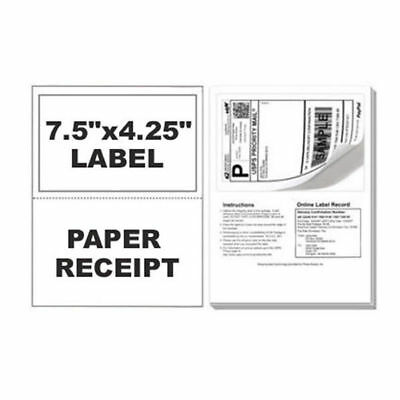 300 Paypal Postage Ebay ClickNShip Shipping Labels w/ Tear off Paper Receipt