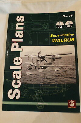 WW2 British Helicopter Submarine WALRUS Scale Plans Reference Book