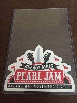 Pearl Jam Official Buenos Aires Sticker 2015 Argentina