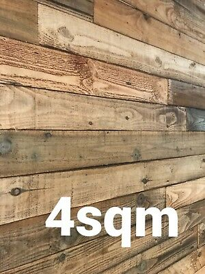 Rustic Cladding Reclaimed Pallet timber Real wood feature wall 4m2 pack 4sqm