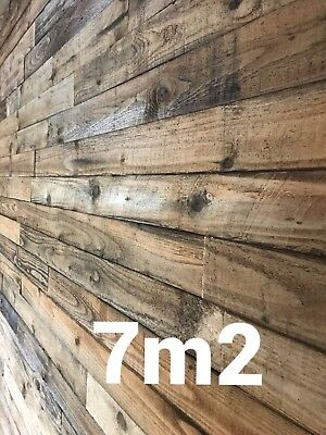 Rustic Cladding Reclaimed Pallet timber Real wood feature wall 7m2 pack 7sqm
