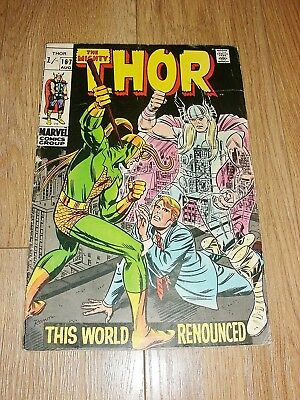 MARVEL COMICS ... The MIGHTY THOR ... #167 ... August 1969 ... JACK KIRBY
