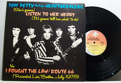 """TOM PETTY & HEARTBREAKERS - listen to her heart / I fought the law 12"""" LIMITED"""