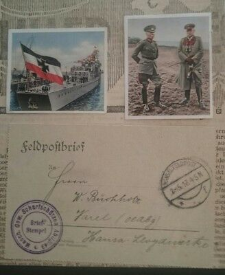 German Ww1 ,front Newspaper ,+ Feldpost Letter,  Pic Cards , 1914/18