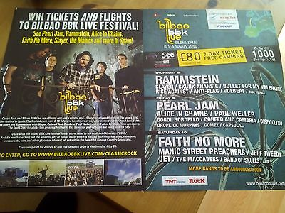 Bilbao bbk Festival Spain Pearl Jam Rammstein FNM Adverts + Review Classic Rock