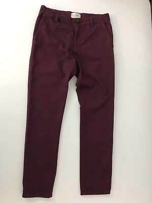 Gucci Boys Maroon Chino Trousers Jeans Age 8 Years Slim Leg