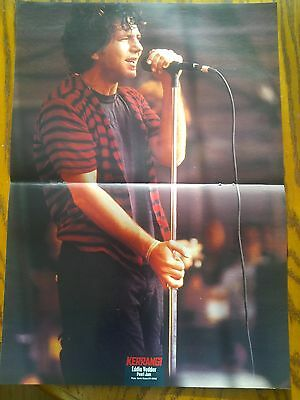 Pearl Jam Original Rare 90's Poster Eddie Vedder Mother Love Bone not dvd