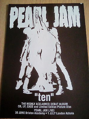 Pearl Jam 1992 Ten Album Advert to frame? Kerrang