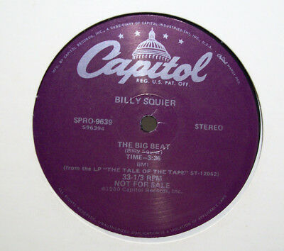 "BILLY SQUIER - big beat / stroke 12"" PROMO ultimate B-BOY BREAKS hip-hop DRUMS"