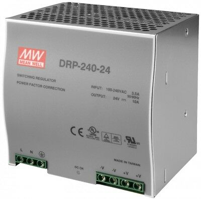 Mean Well DRP-240-24 AC to DC DIN-Rail Power Supply 24 Volt 10 Amp 240 Watt