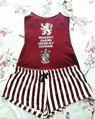 Primark Ladies HARRY POTTER Pyjamas  HOGWARTS Cami Vest Shorts Womens Pajamas
