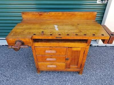 Vintage Industrial Rustic Workbench, Sideboard, Server, Buffet, Console Table