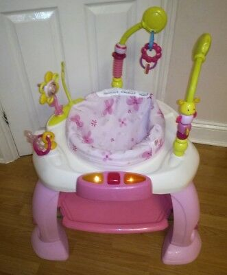 Bright starts bounce bounce jumperoo Activity centre entertainer station pink