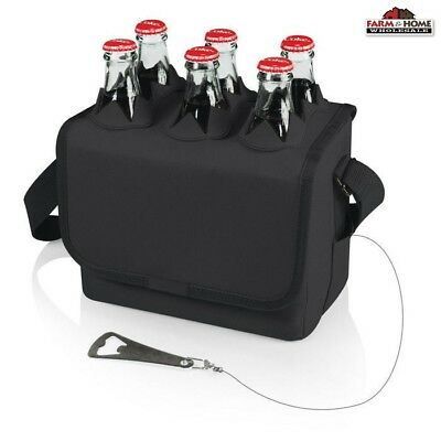 Picnic Time Six Porter Cooler Tote Bottle, Can Insulated Outdoor ~ New