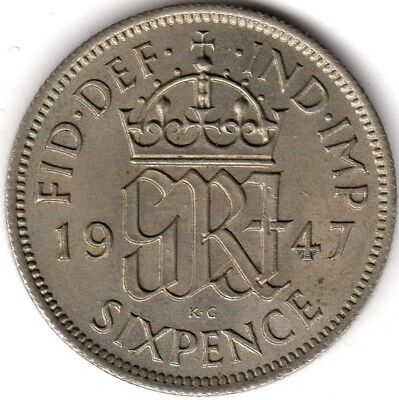 1947 George VI Sixpence***Collectors***