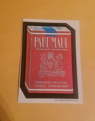 Vintage   Wacky Packages paul maul White back rough corner