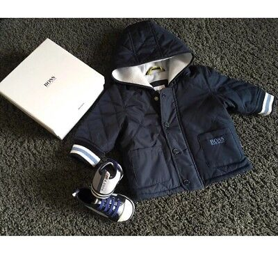 Hugo Boss Baby Boy Coat And Shoes 3 Months +