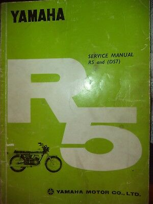 Yamaha R5 and DS7 Service Manual (factory) YR5 YDS7 1970