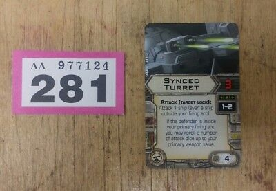 Star Wars X-Wing Miniatures Game Synced Turret upgrade card