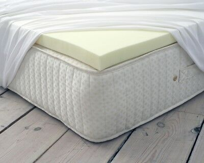 100% Classic Orthopaedic Memory Foam Mattress Topper All Thickness Depth Sizes