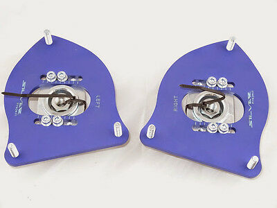 Camber Plates for Mini Cooper R53 R50 - ADJUSTABLE -  BLUE