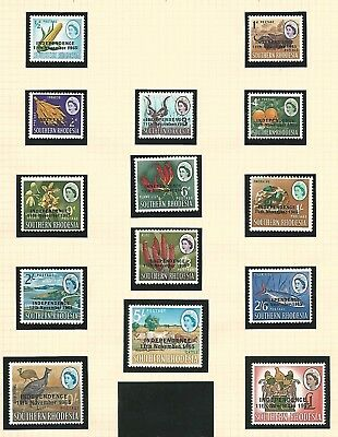 Southern Rhodesia 1966 definitives overprinted LMM see notes
