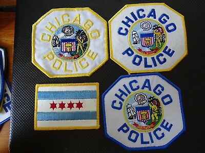 Set of Seven Chicago, Illinois Patches