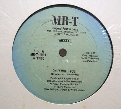 "WICKETT - only with you 12"" ELECTRO-FUNK disco rap SYNTH julian hernandez MR-T"