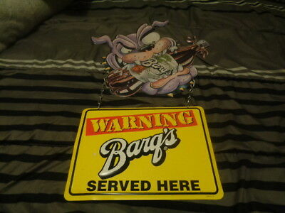 bargs root beer tin sign
