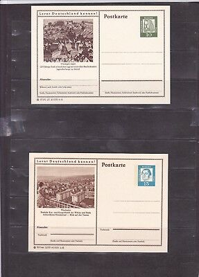 1212 Germany Post Card Deutsche Bundes Republik Post Postkarte New Unused X4