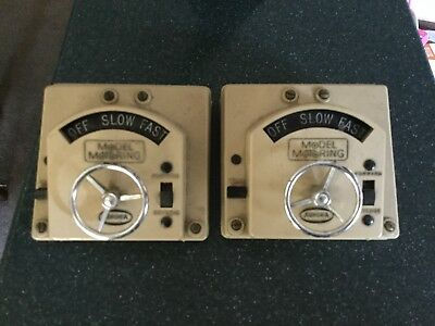 Nice Vintage 2 Lot Aurora Controllers With Reverse