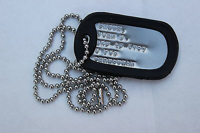 Real Debossed Custom Personalized Military Army Dog Tag Made Just For U