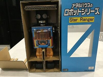 Star Ranger Piston Tin Robot Made In Japan Metal House MIB Limited Edition
