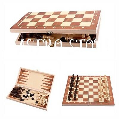Chess-Draughts-Backgammon-3-in-1-Wooden-Board-Games-Set-Compendium-