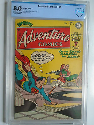 Adventure #195, Superboy, Lana Lang & Mars Boy, CBCS 8.0 Very Fine, OWW Pages