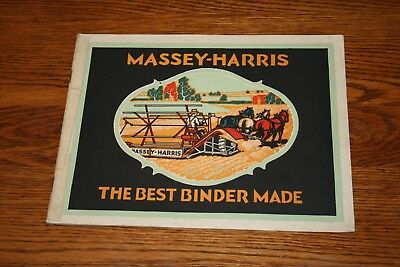 Massey Harris Colorful Early Advertising Sales Catalog