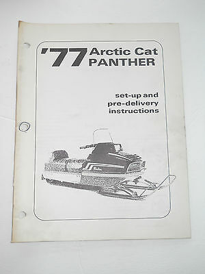 Arctic Cat 1977 Panther  Set Up & Pre Delivery Instructions Manual