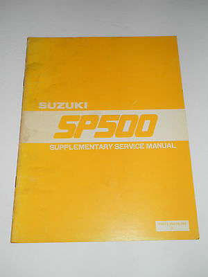 Suzuki Sp500  Official Supplementary Service  Manual