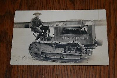 Cleveland Tractor Company Crawler Tractor Real Photo Postcard