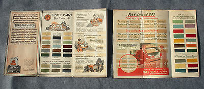 1927 and 1933 BPS Paint Company Foldout Brochure