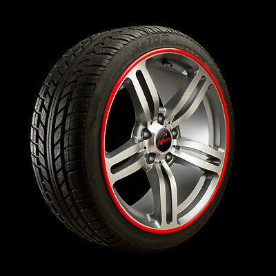 """Red Rimbands by Rimblades Alloy Wheel Rim protectors 15"""" to 18"""""""