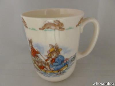 Royal Doulton Bunnykins - Row Boat  -  Don Beaker - Withdrawn