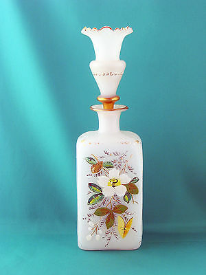 Antique Art Glass: Bristol glass late 19th C perfume,  barber or cologne bottle