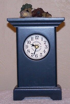Boyd's Bear Mantel Clock-Bailey-On Time. 1997