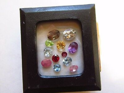 Natural Loose Mixed Faceted Gemstone Parcel Lot Pink Tourmaline Red Ruby Bi Colo