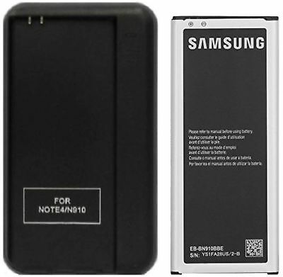 New 3220mAh Battery EB-BN910BBE + Wall Charger for Samsung Galaxy Note 4 SM-N910