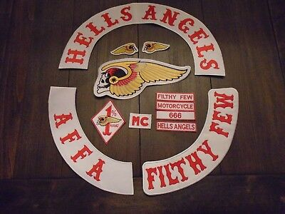 Very Rare Filthy Few Motorcycle Club 12 pc.  Patch Set