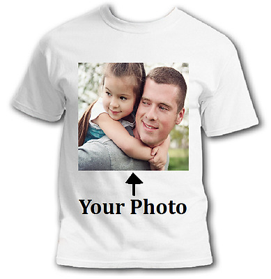 Create Your Own Custom Personalized White TShirt Small - XL Photo Picture Unisex