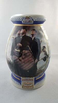 1st First Edition Bottom of the Sixth Norman Rockwell Stein Mug Saturday Evening