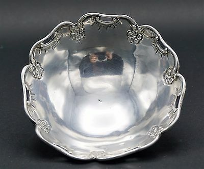 Old 900 Silver Repousse Bowl Or Dish